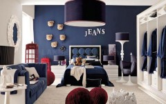 kids bedroom ideas Blue Bedroom Ideas for Boys red-white-and-blue-denim-themed-boys-room