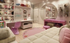 luxury-toddler-bedroom-ideas-with-comfortable-bed-mesmerizing-round-mounted-mirror-exciting-wardrobe-fascinating-neutral-splash-color-and-stunning-sprinkle-lamp-945x756
