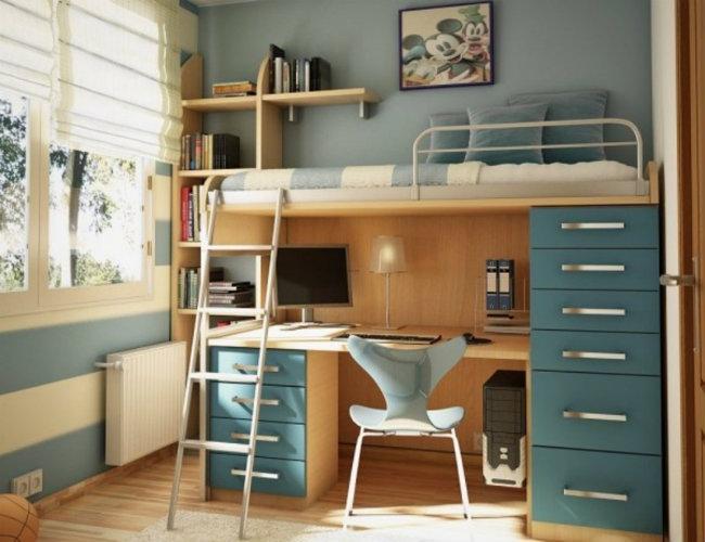 loft-bed-desk-designs loft bed Loft Bed Ideas Kids will love loft bed desk designs