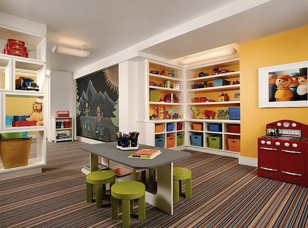 How to Transform Your Basement Into a Colorful Kids Playroom ➤ Discover the season's newest designs and inspirations for your kids. Visit us at www.kidsbedroomideas.eu #KidsBedroomIdeas #KidsBedrooms #KidsBedroomDesigns @KidsBedroomBlog