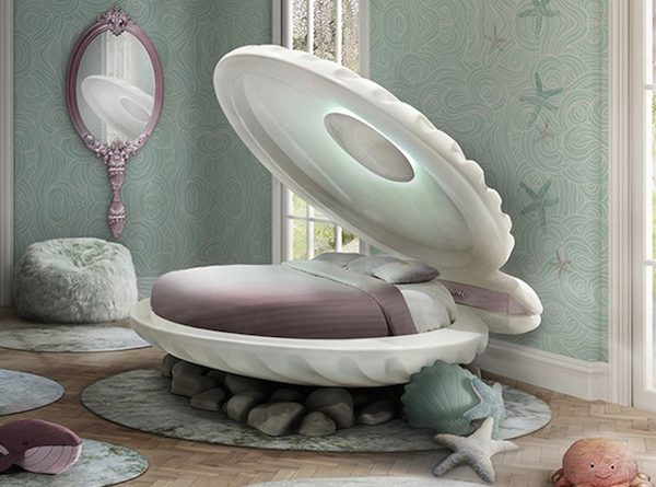 Kids Furniture Ideas - Little Mermaid Bed by Circu ➤ Discover the season's newest designs and inspirations for your kids. Visit us at www.kidsbedroomideas.eu #KidsBedroomIdeas #KidsBedrooms #KidsBedroomDesigns @KidsBedroomBlog