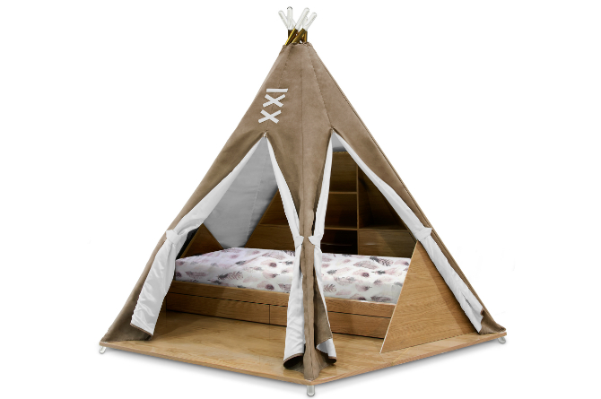How To Style Kids Teepee Bedroom Like A Pro ➤ Discover the season's newest designs and inspirations for your kids. Visit us at www.kidsbedroomideas.eu #KidsBedroomIdeas #KidsBedrooms #KidsBedroomDesigns @KidsBedroomBlog