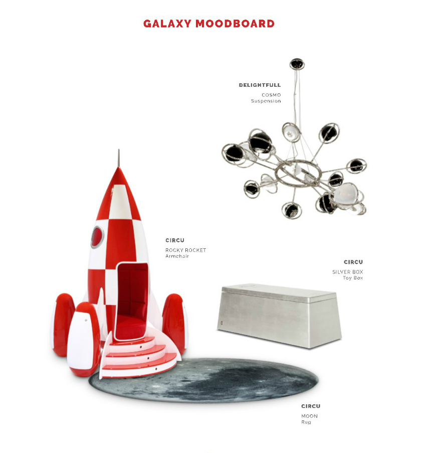 Kids Bedroom Ideas: Perfect Galaxy Moodboard For a Space-themed Room ➤ Discover the season's newest designs and inspirations for your kids. Visit us at www.kidsbedroomideas.eu #KidsBedroomIdeas #KidsBedrooms #KidsBedroomDesigns @KidsBedroomBlog
