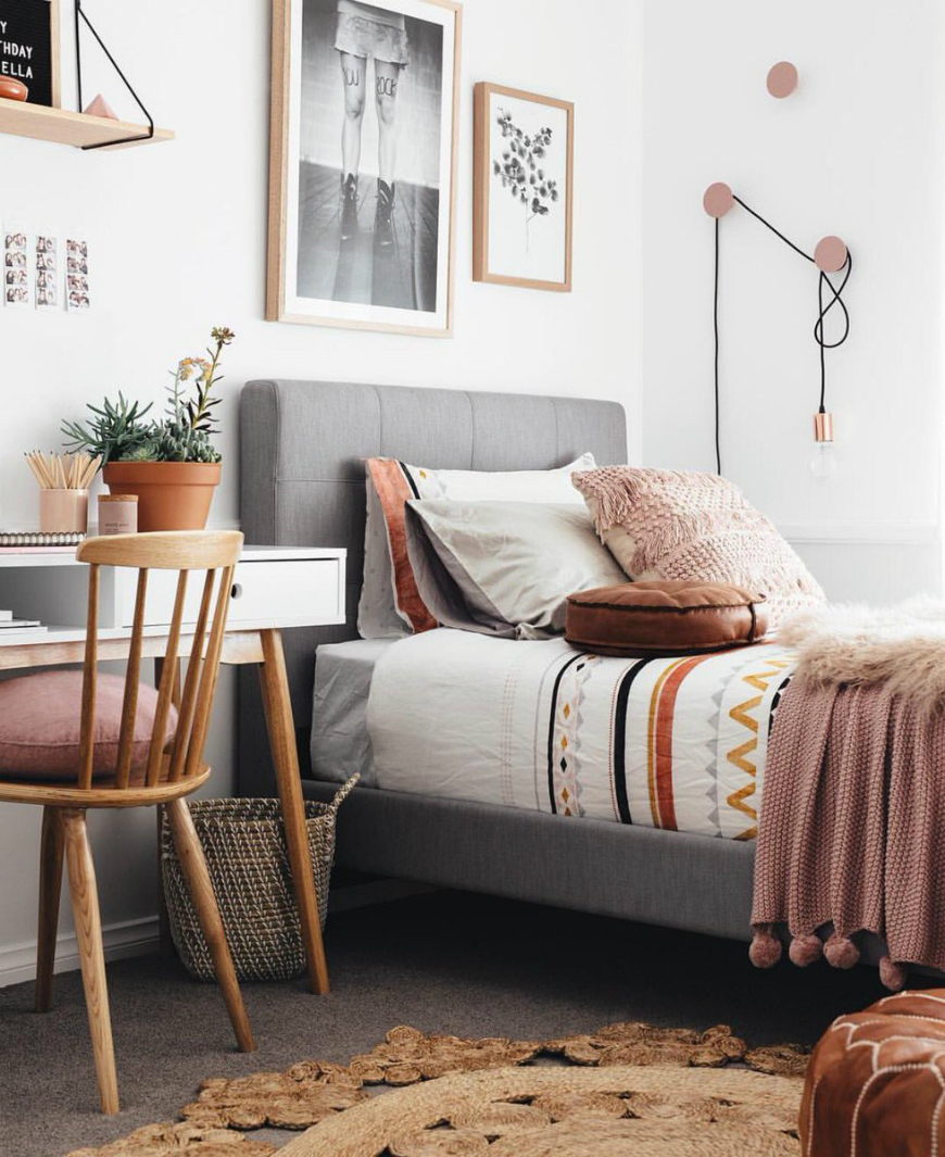 10 Scandinvian Teen Bedroom Decor Ideas For All Styles ... on Room Decor For Teens  id=43420