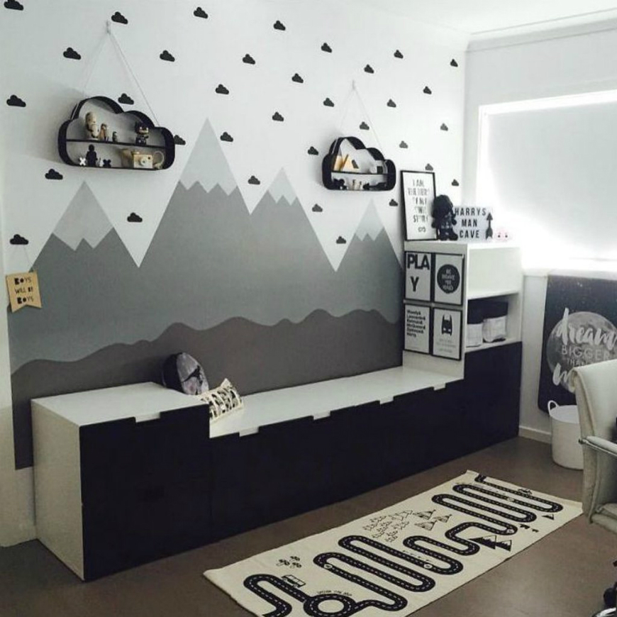 Spring Trends 2017 The Best Pastel Kids Room Ideas To: Awesome Mountain Wall Art Ideas For Your Kids' Bedroom
