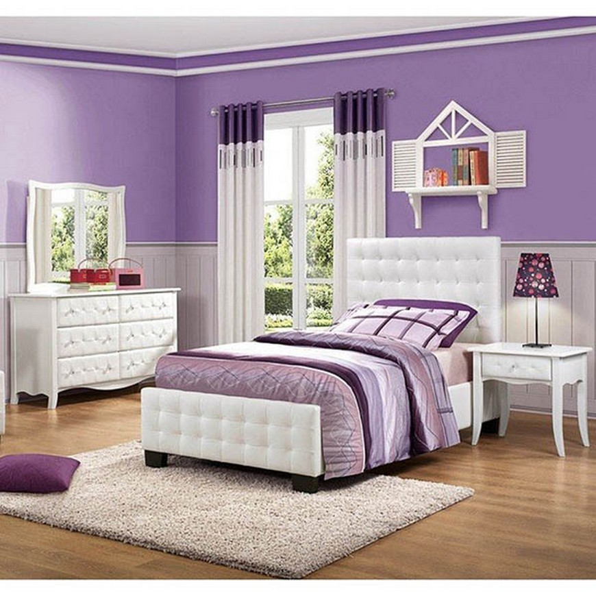 Teenage Girl Bedroom Ideas - Let Purple Rain on their ... on Girls Bedroom Ideas  id=12686