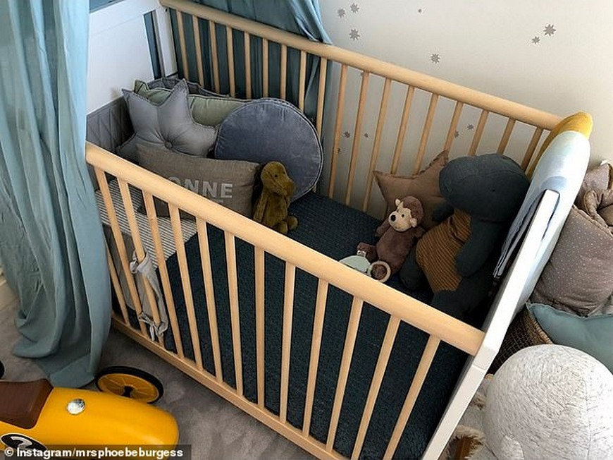 Celebrity Kids Bedrooms - First Look at Phoebe Burgess' Nursery Celebrity Kids Bedrooms Celebrity Kids Bedrooms – First Look at Phoebe Burgess' Nursery Celebrity Kids Bedrooms First Look at Phoebe Burgess Nursery 1