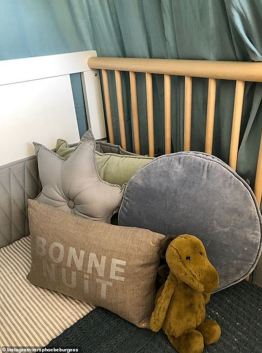 Celebrity Kids Bedrooms - First Look at Phoebe Burgess' Nursery Celebrity Kids Bedrooms Celebrity Kids Bedrooms - First Look at Phoebe Burgess' Nursery Celebrity Kids Bedrooms First Look at Phoebe Burgess Nursery 3
