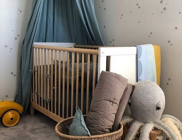 Celebrity Kids Bedrooms - First Look at Phoebe Burgess' Nursery