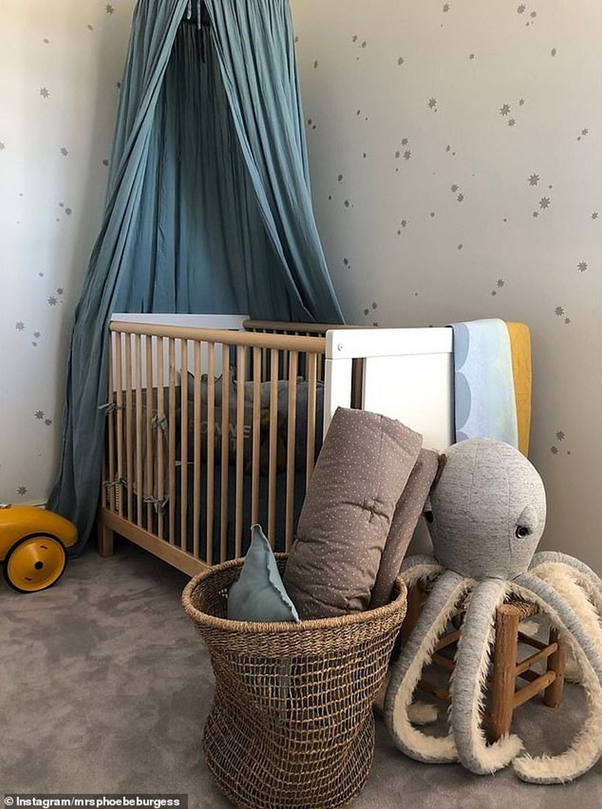 Celebrity Kids Bedrooms - First Look at Phoebe Burgess' Nursery Celebrity Kids Bedrooms Celebrity Kids Bedrooms – First Look at Phoebe Burgess' Nursery Celebrity Kids Bedrooms First Look at Phoebe Burgess Nursery 4