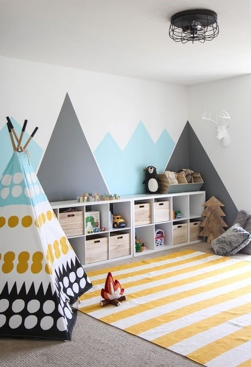Wall Decor Ideas for Kids creative Creative Wall Decor Ideas that your Kids will love tent 1
