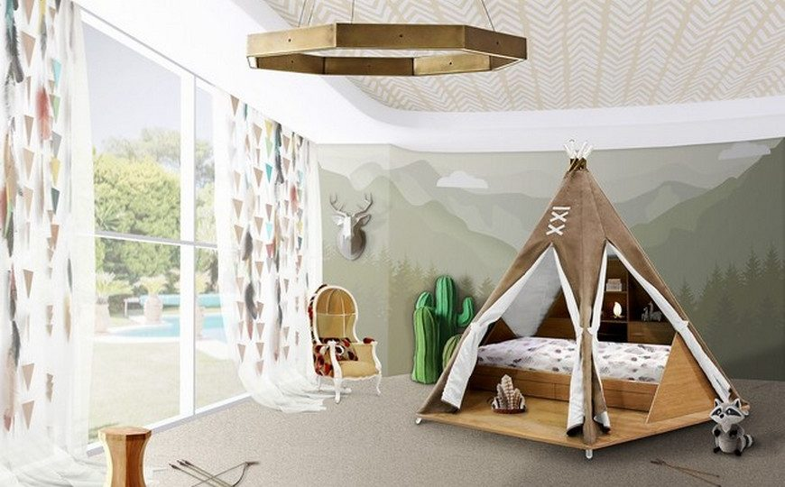 Kids Bedroom Ideas Decor for Kids Ideas Teepee Bed is Circus Product of the Week 1 870x540