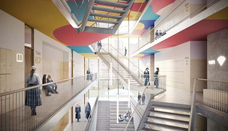 Kids Spaces Inspirations – An Amazing School By ODA The Beth Rivka School by ODA 4 870x500  Kids Bedroom Ideas The Beth Rivka School by ODA 4 870x500